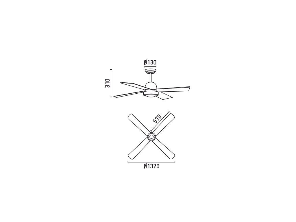 Schéma stropní ventilátor faro 33287 ibiza
