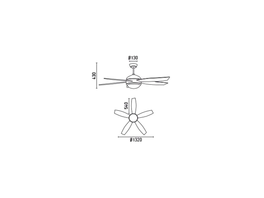 Schéma stropní ventilátor faro 33314 vanu