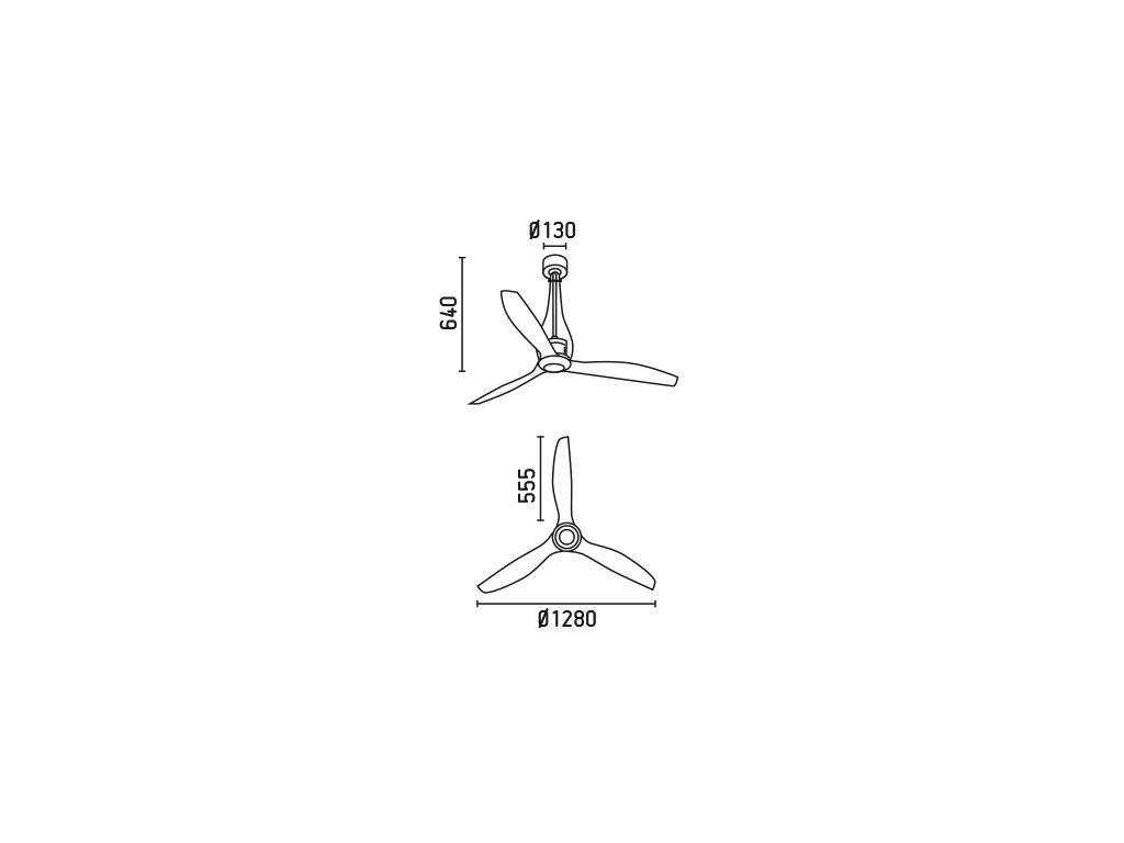 Schéma stropní ventilátor faro 33381 eterfan