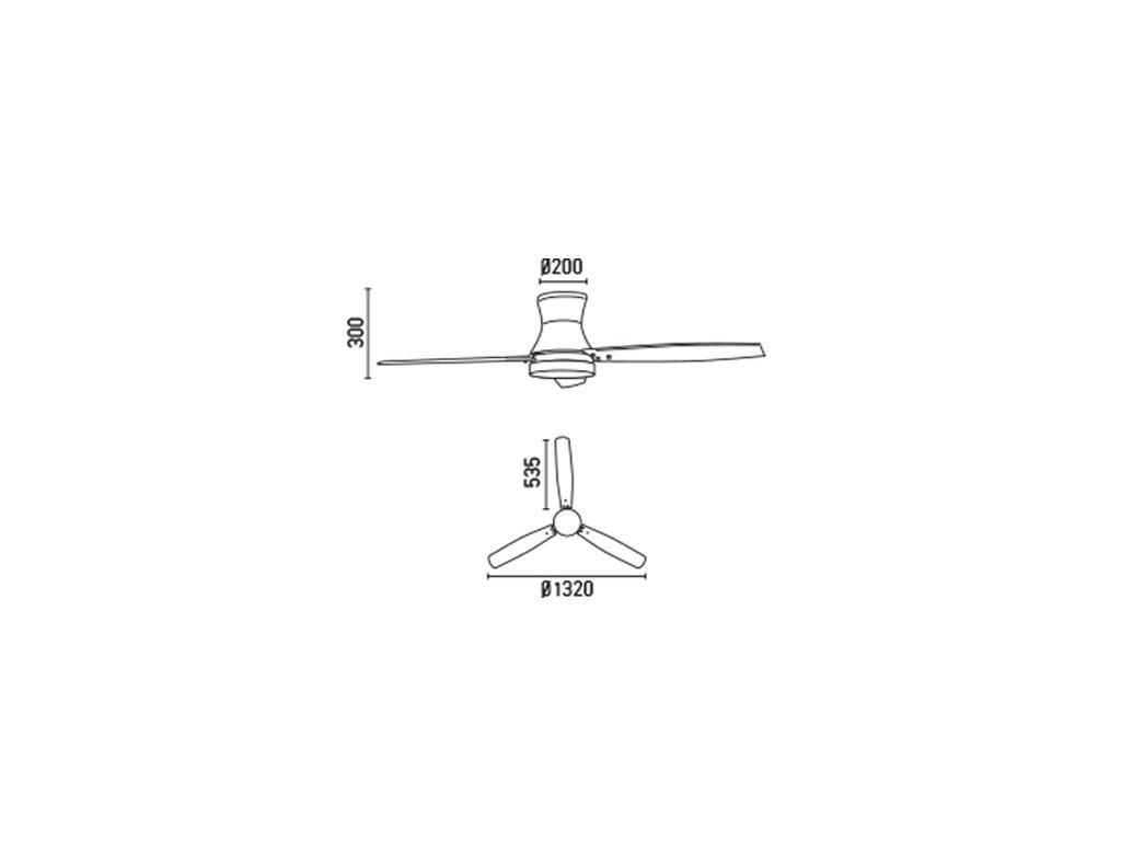 Schéma stropní ventilátor faro 33386 tonsay