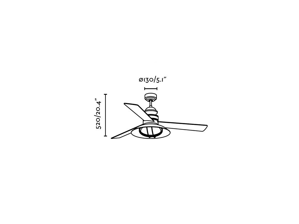 Schéma stropní ventilátor faro 33396 winch