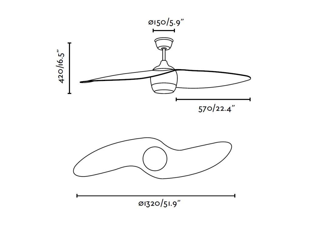 Schéma stropní ventilátor faro 33411 alaska
