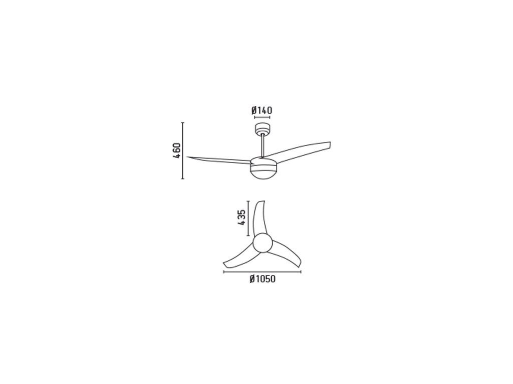 Schéma stropní ventilátor faro 33416 easy