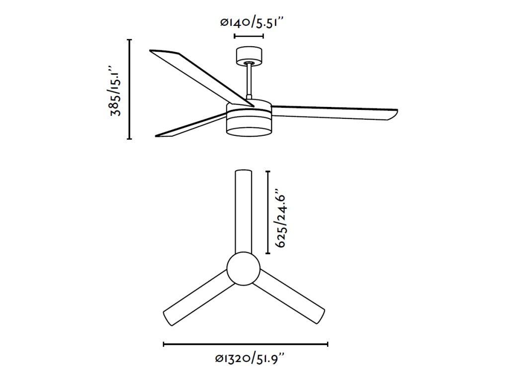 Schéma stropní ventilátor faro 33459 ice