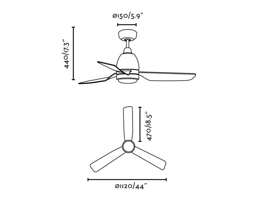 Schéma stropní ventilátor faro 33467 fogo