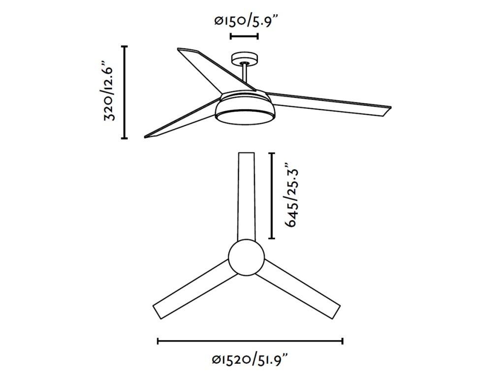 Schéma stropní ventilátor faro 33549 vulcano