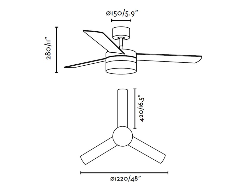 Schéma stropní ventilátor faro 33608 panay