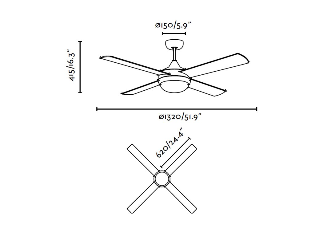 Schéma stropní ventilátor faro 33701 icaria