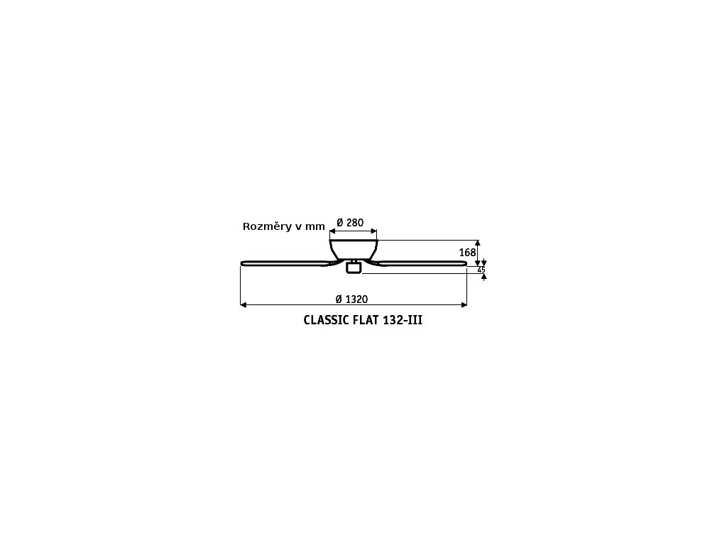 Schéma stropní ventilátor casafan 5103061 classicflat