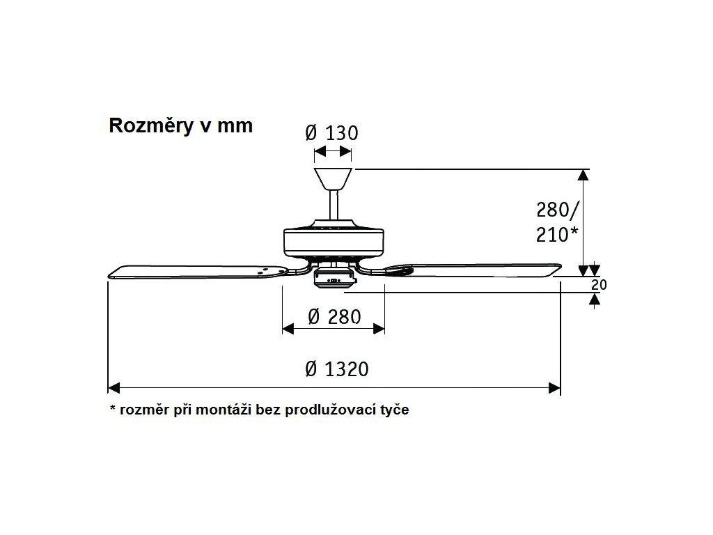 Schéma stropní ventilátor casafan 513213 classicroyal