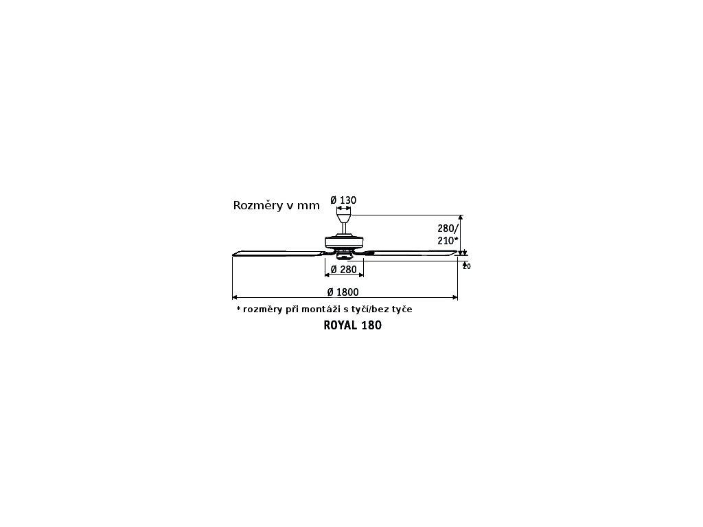 Schéma stropní ventilátor casafan 518014 classicroyal