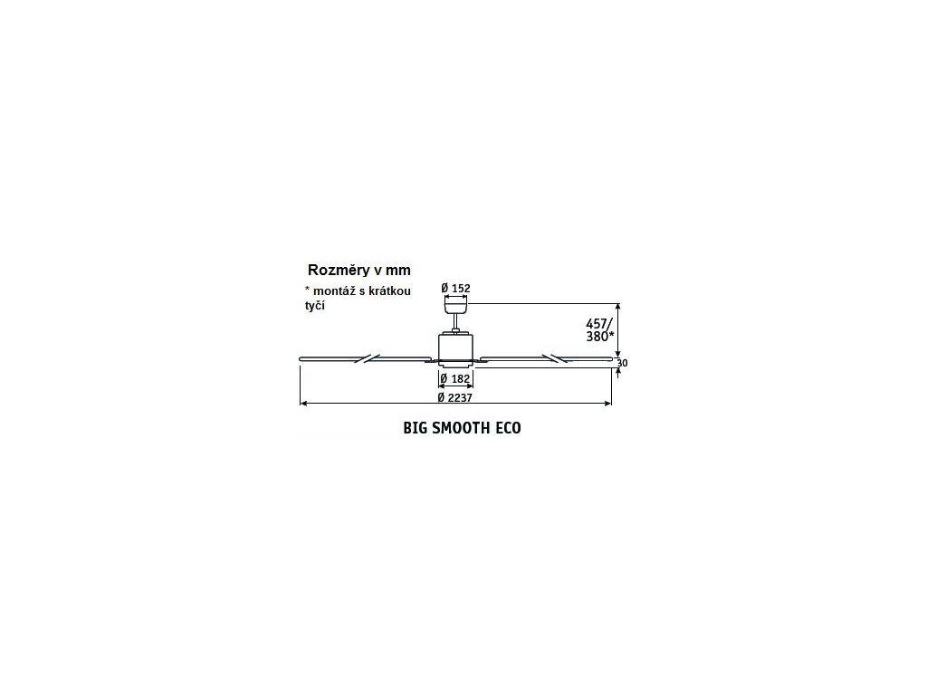 Schéma stropní ventilátor casafan 922013 bigsmootheco