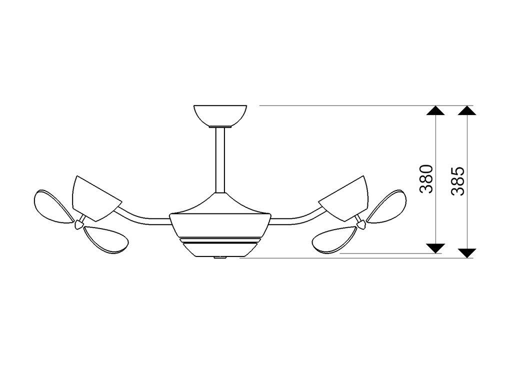 Schéma stropní ventilátor aireryder fn41132 efan