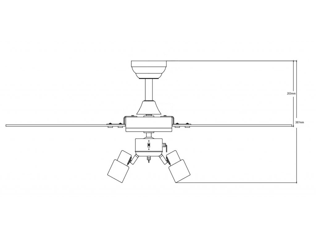 Schéma stropní ventilátor aireryder fn44444 cyrus