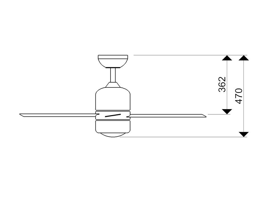 Schéma stropní ventilátor aireryder fn51134 loft