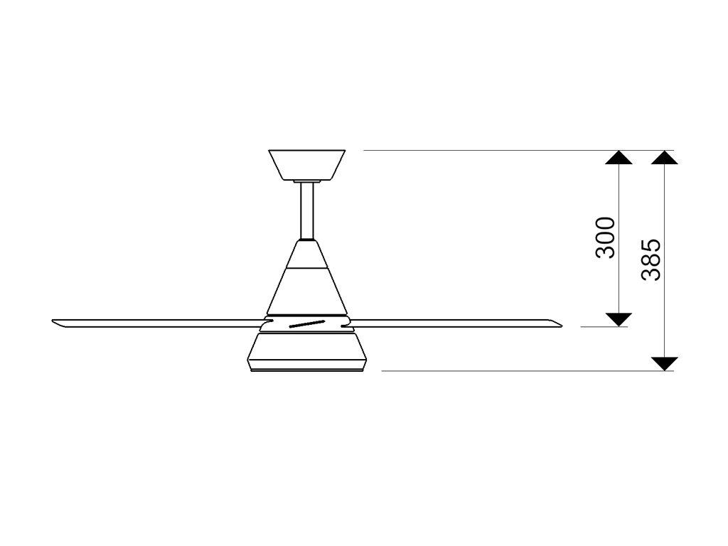 Schéma stropní ventilátor aireryder fn71132 cosmos
