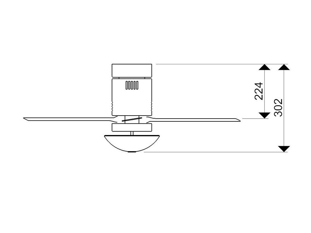 Schéma stropní ventilátor aireryder fn73335 aero