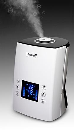 Zvlhčování vzduchu pomocí ultrazvukového zvlhčovače vzduchu Clean Air Optima CA-606