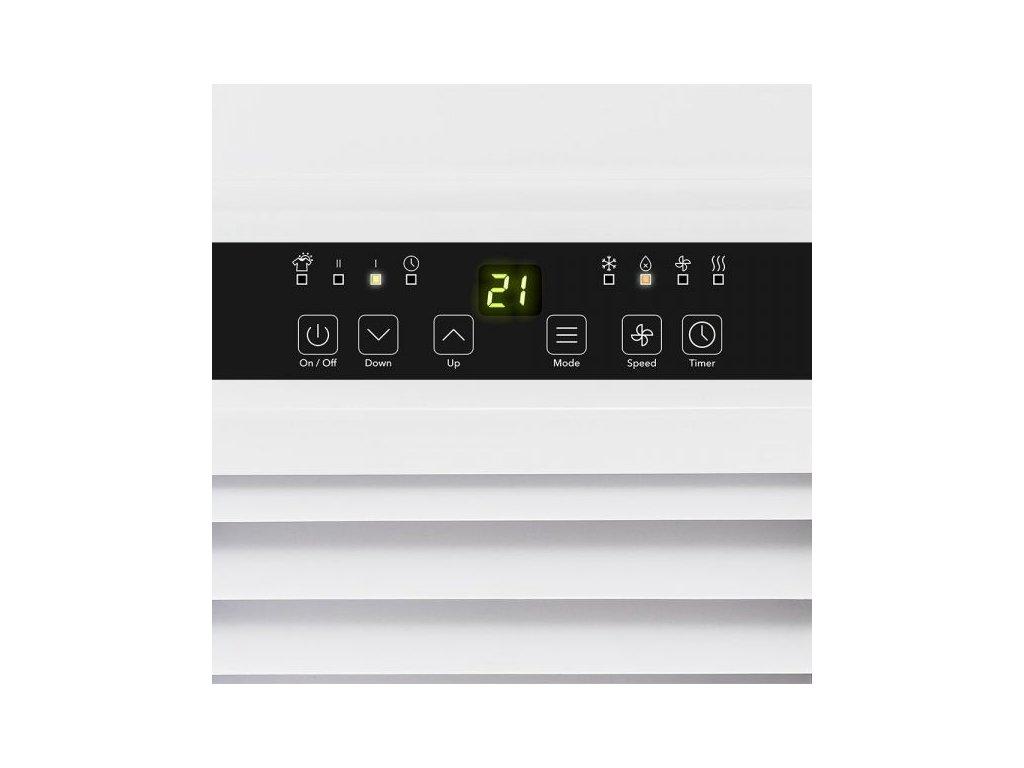 Detail ovládacího panelu mobilní klimatizace PAC 2010 SH