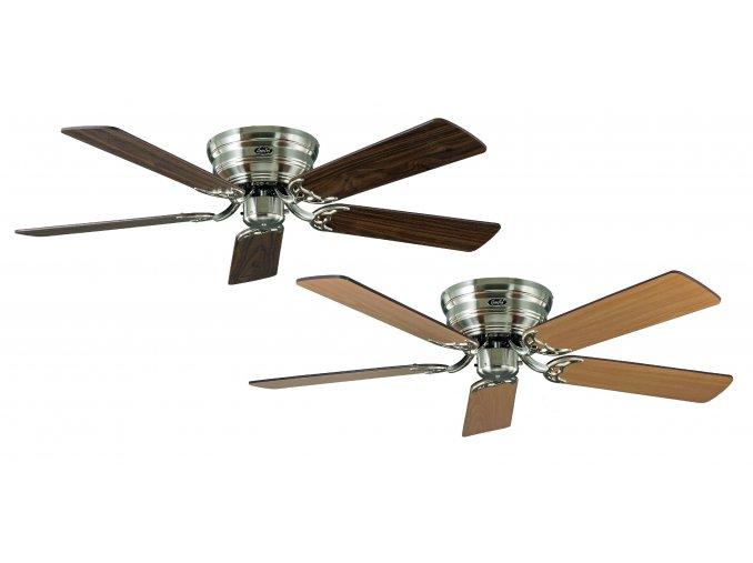 Stropní ventilátor CasaFan 5132051 CLASSIC FLAT ořech nebo buk/saténový chrom