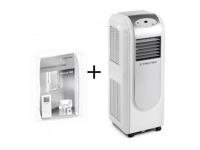 mobilni klimatizace do panelaku Trotec PAC 2000 E TESNENI OKEN TROTEC AIRLOCK 100