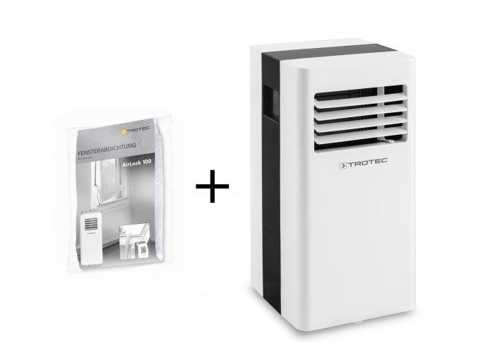mobilní klimatizace Trotec PAC 2300 X s těsněním oken pro mobilní klimatizace airlock 100
