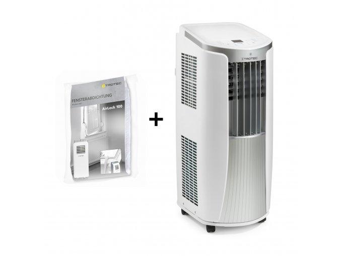 Mobilní klimatizace Trotec PAC 2610 E + těsnění oken pro mobilní klimatizace AirLock 100
