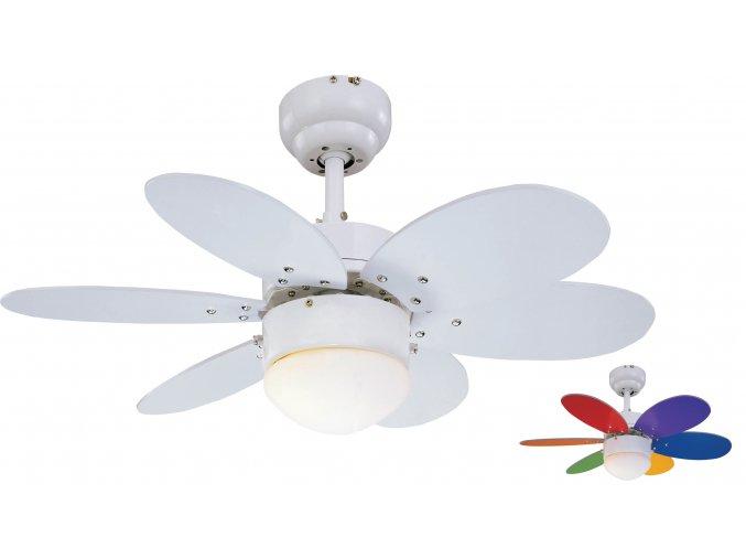 Stropní ventilátor do bytu Sulion 075008 RAINBOW LED oboustranné lopatky