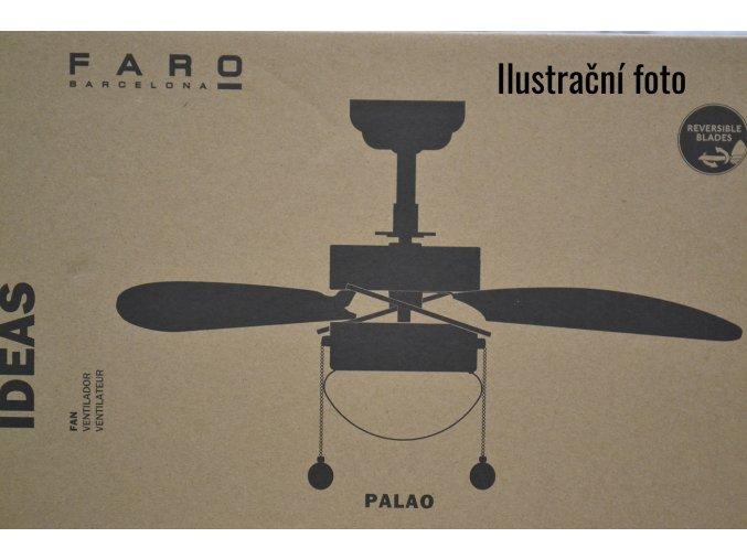 FARO 33179 PALAO, různobarevný, stropní ventilátor se světlem  řetízkové ovládání, dálkové ovládání lze dokoupit
