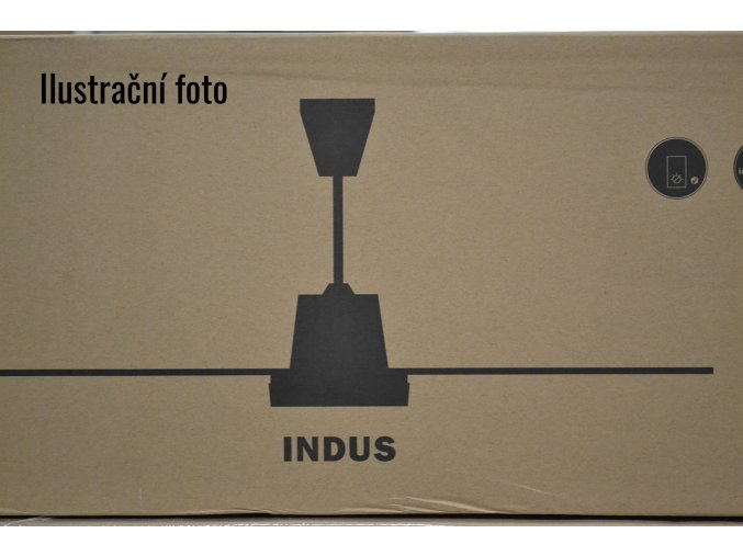 FARO 33002 INDUS, chrom, stropní ventilátor bez světla  Ovládání na zeď