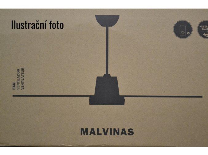 FARO 33110 MALVINAS, ořech nebo rudý mahagon/tmavě šedá, stropní ventilátor  Ovládání na zeď