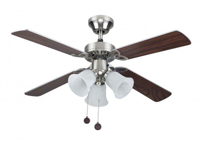 Sulion 075439 HORNET, šedá a wenge, stropní ventilátor se světlem