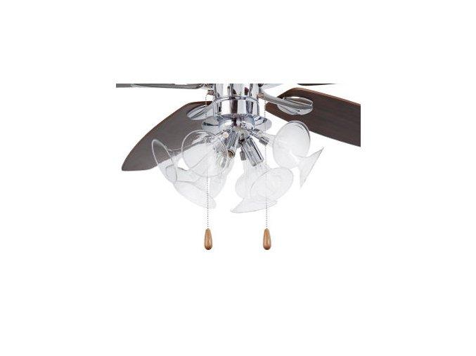 Světelný kit FARO 33406 chrom pro stropní ventilátor FARO 33404 TOMIL