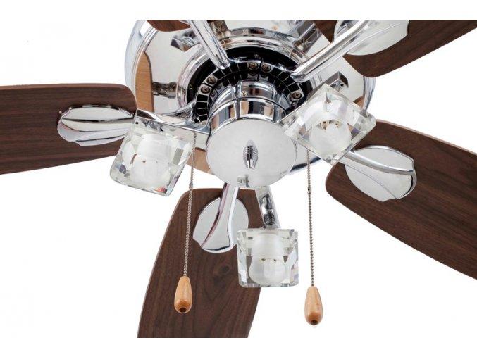 Světelný kit FARO 33405 chrom pro stropní ventilátor FARO 33404 TOMIL