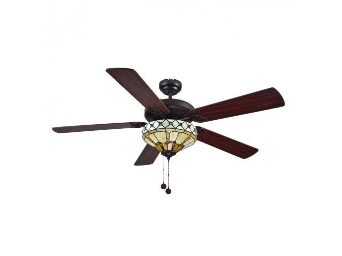Stropní ventilátor Sulion NEVADA 075056 oboustranné lopatky - tmavě hnědá