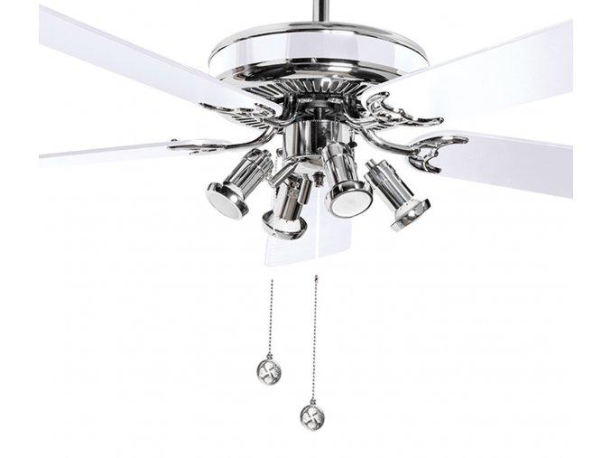 Stropní ventilátor se světlem Sulion 075128 Spike oboustranné lopatky