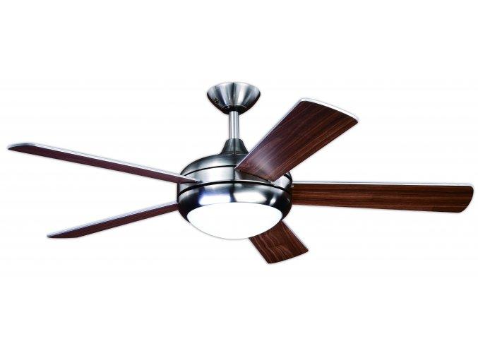 Stropní ventilátor se světlem Aireryder FN75539 Ursa, oboustranné lopatky, ořech