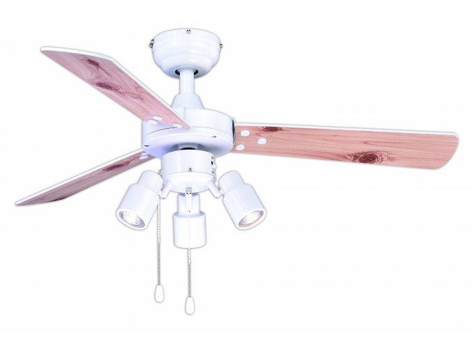 AireRyder FN44477 CYRUS, bílá nebo borovice, stropní ventilátor se světlem