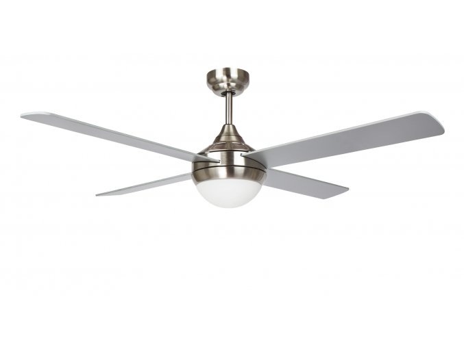 Stropní ventilátor se světlem Sulion CROSS 075266, oboustranné lopatky,šedá
