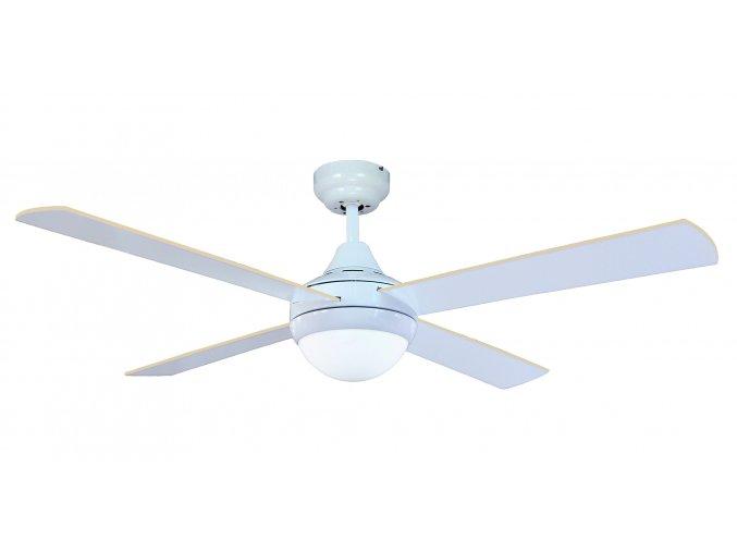 Stropní ventilátor se světlem Sulion CROSS 072258, oboustranné lopatky - bílá