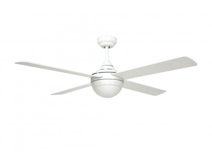 Stropní ventilátor se světlem Sulion BANDIT 075315, oboustranné lopatky - bílá