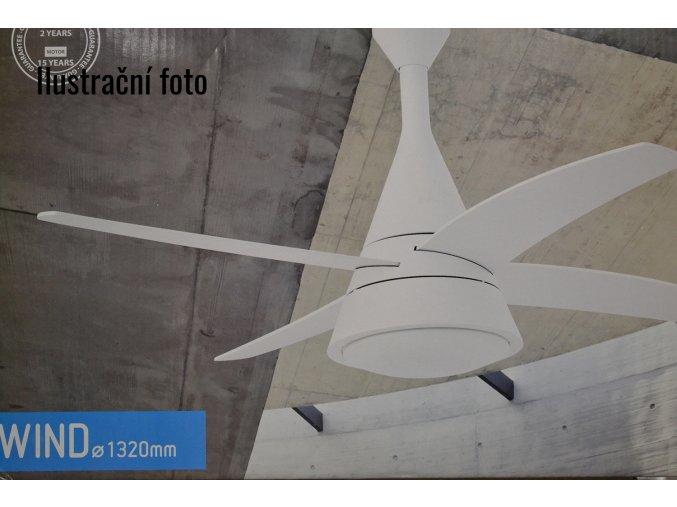 FARO 33392 WIND, bílá, stropní ventilátor se světlem  ovládání dálkové