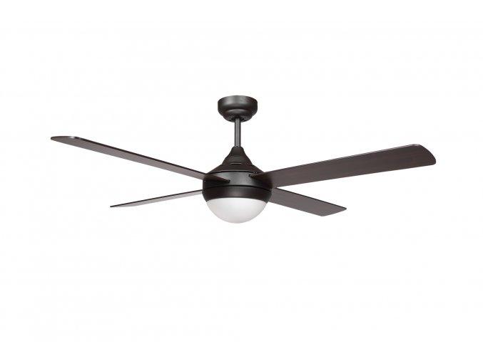 Sulion 075268 CROSS, tmavě hnědá, stropní ventilátor se světlem