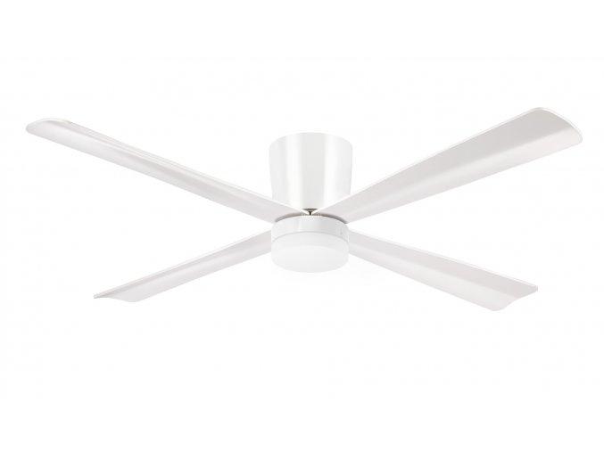 Sulion 072224 MALIBU, bílá, stropní ventilátor se světlem