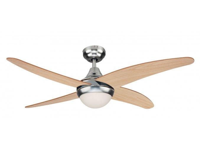 Sulion 072263 ACHILIA, hnědá, stropní ventilátor se světlem
