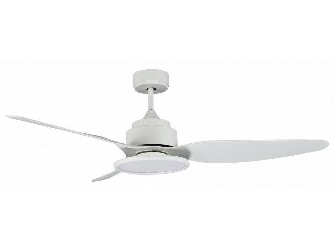 Sulion 072254 FIERA, bílá, stropní ventilátor s LED světlem a DC motorem