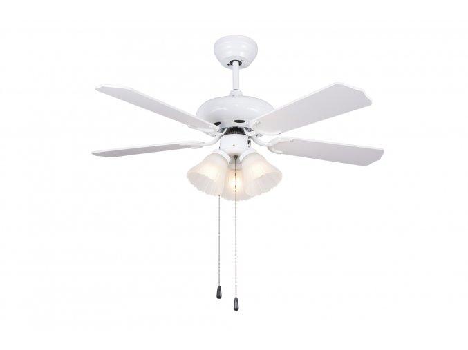 Sulion 072816 SKUA, bílá a borovice, stropní ventilátor se světlem