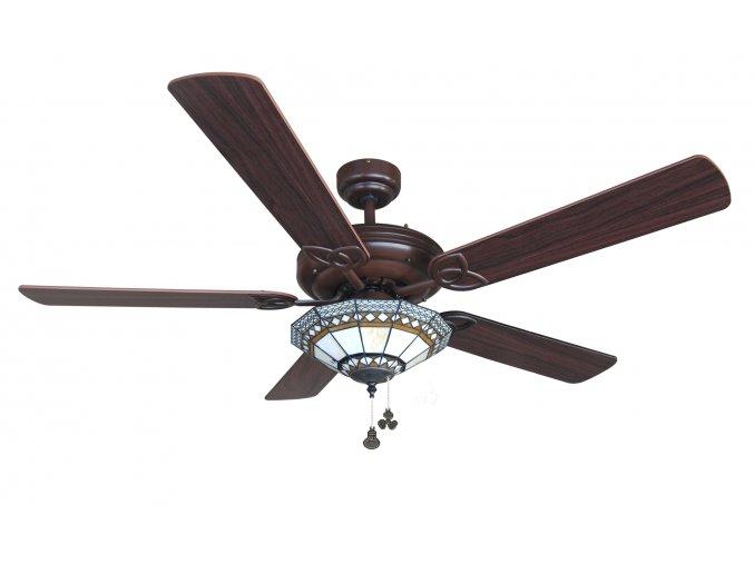 Sulion 075026 DALLAS, tmavě hnědá, stropní ventilátor se světlem