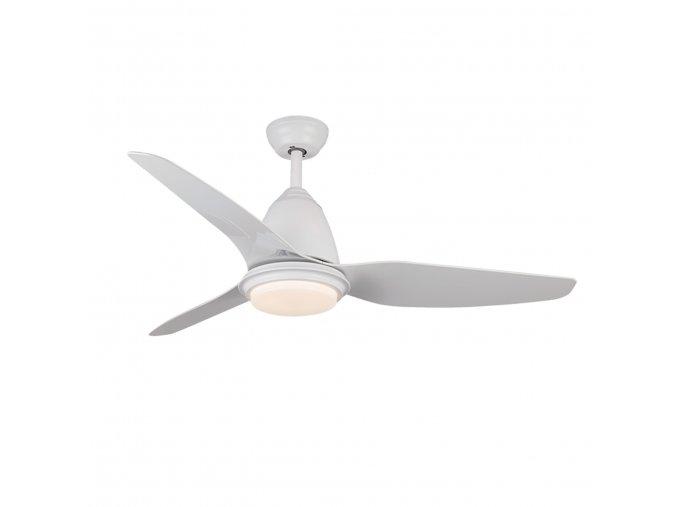 Sulion 075066 MARCONY, bílá, stropní ventilátor s LED světlem