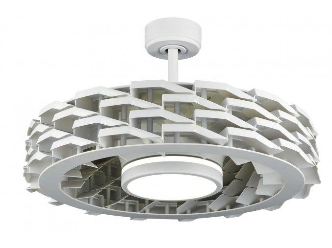 Sulion 075319 RUBIK, bílá, stropní ventilátor se světlem